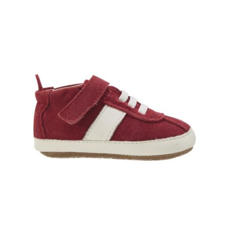 Red-Suede-White